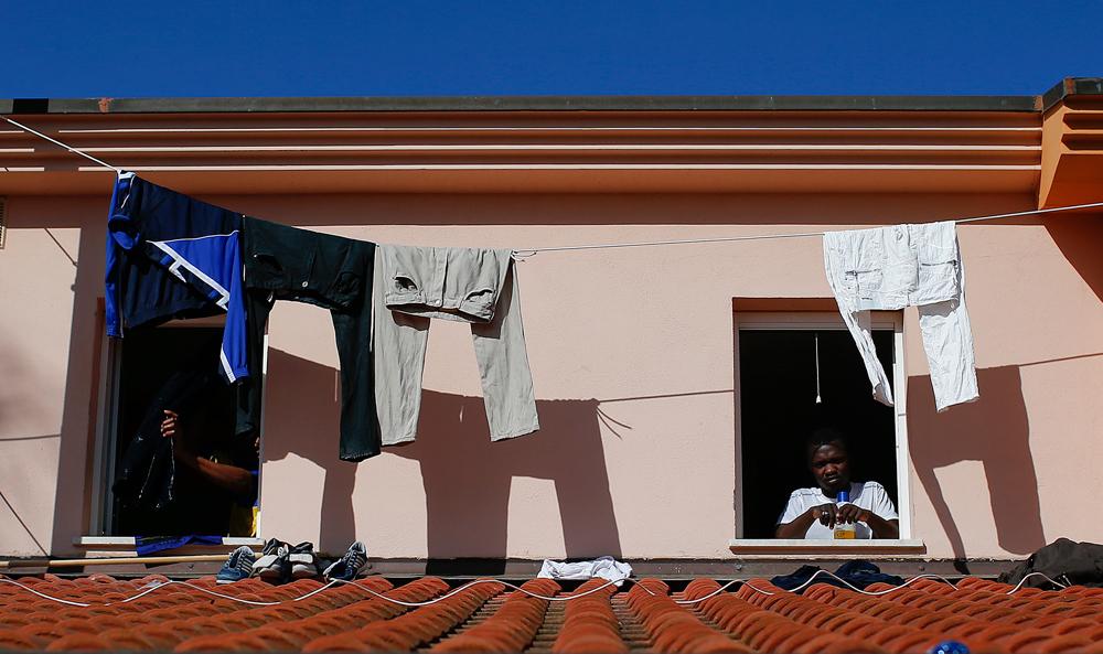 Una casa nel centro di Mineo, il 27 gennaio 2014. - Tony Gentile, Reuters/Contrasto