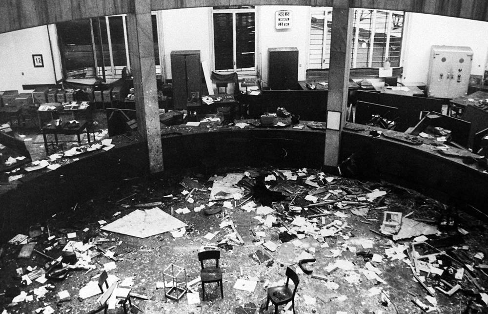 L'interno della Banca nazionale dell'agricoltura dopo l'attentato, il 12 dicembre 1969. - Ap/Lapresse