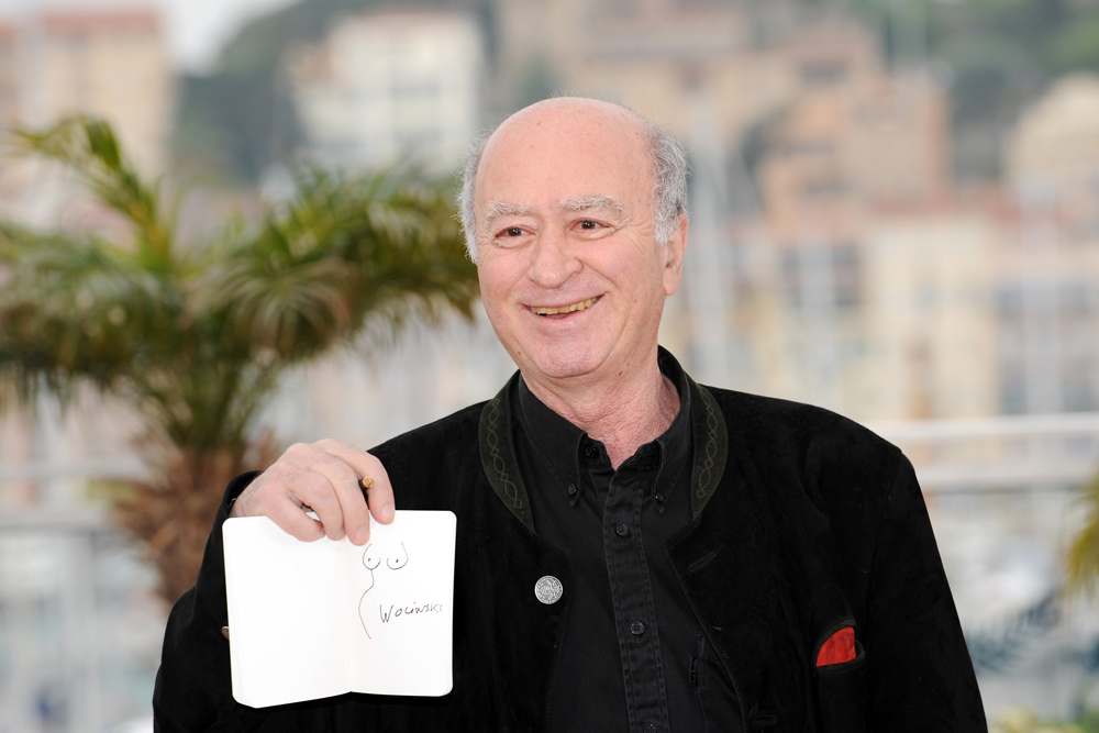 Wolinski al festival del cinema di Cannes, 2008. - Anne-Christine Poujoulat, Afp
