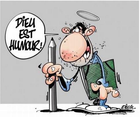 """""""Dio è humor"""", ha disegnato l'algerino Dilem. -"""