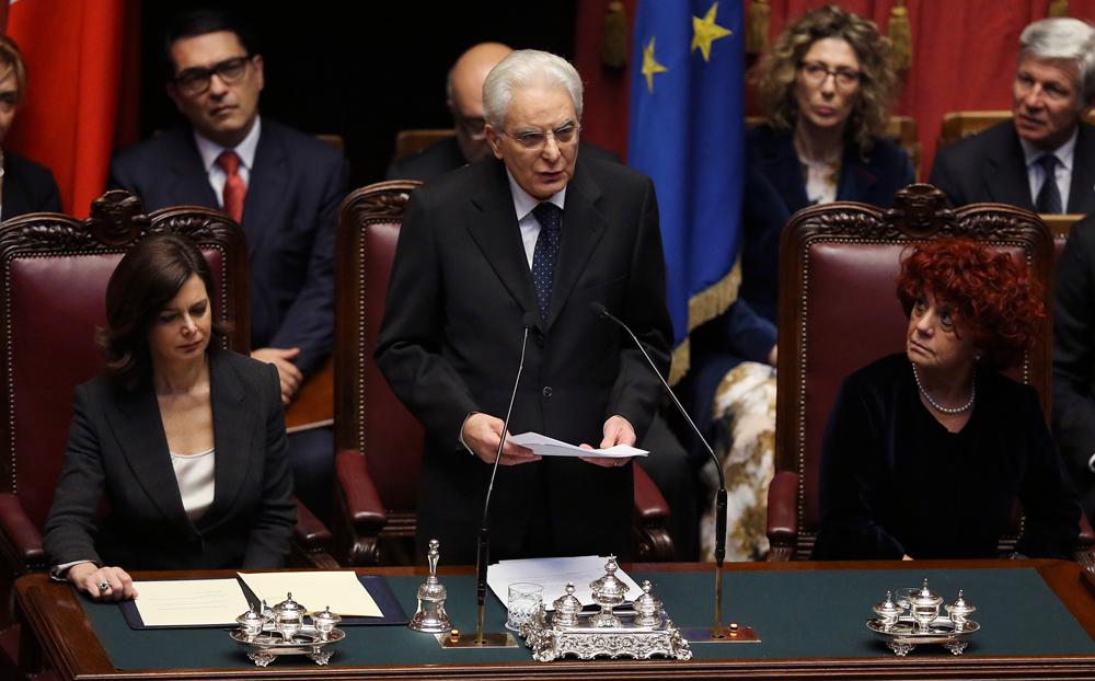 Durante il discorso alla camera dei deputati. (Alessandro Bianchi ...