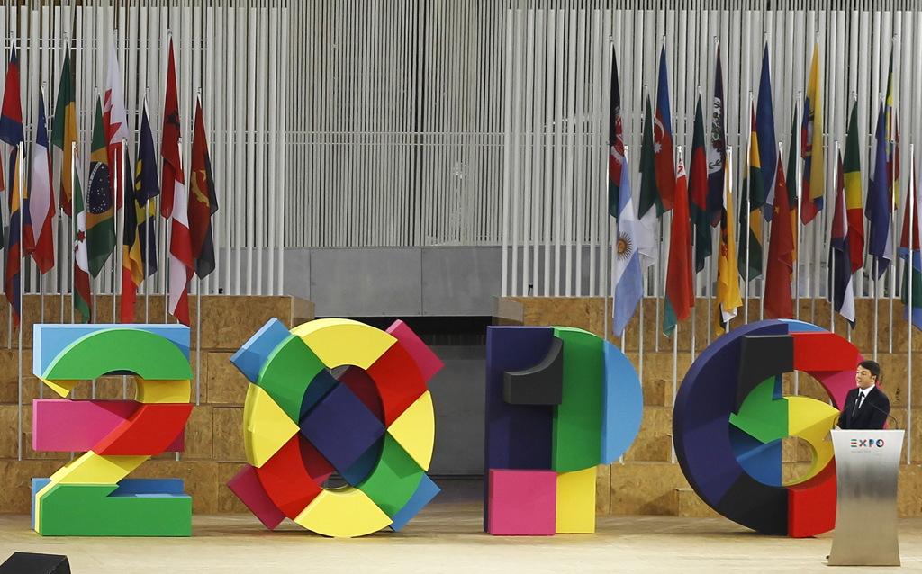 Matteo Renzi alla cerimonia di apertura di Expo 2015 a Milano. - (Alessandro Garofalo, Reuters/Contrasto)
