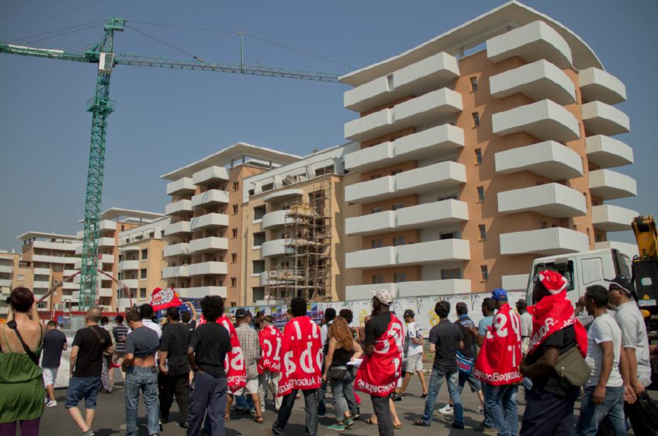 Le proteste dei facchini in via di Salone, l'8 giugno 2015 a Roma. - Carolina Lalli