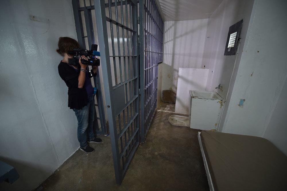 La cella in cui era detenuto El Chapo nel carcere di Almoloya, il 15 luglio 2015. - Yuri Cortez, Afp