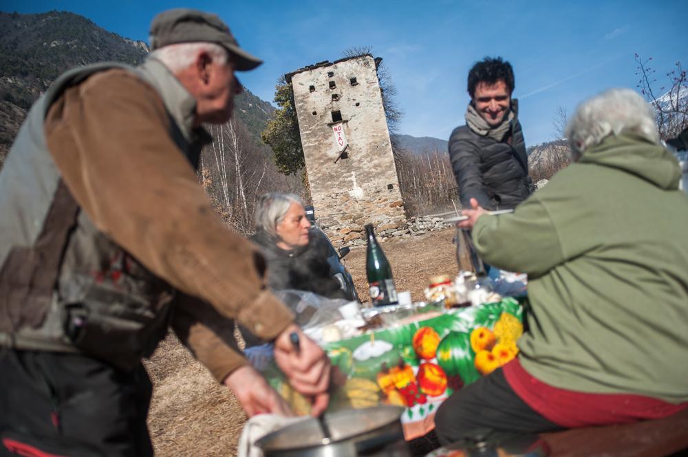 Il pranzo del mercoledì dei No Tav alla Colombera, 27 gennaio 2016. - Michele Lapini