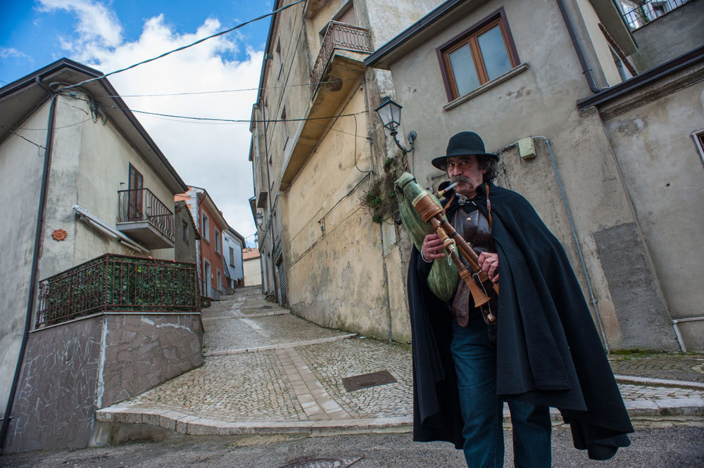 Il musicista Sergio Santalucia a Trevico, il 20 febbraio 2016. - Andrea Sabbadini