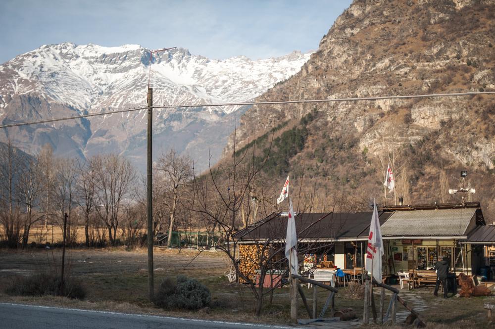 Venaus, il presidio No Tav sulla strada provinciale 210, 26 gennaio 2016. - Michele Lapini