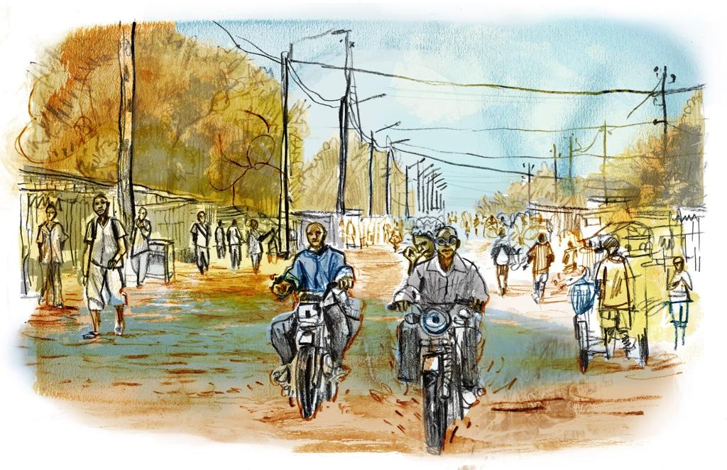La strada tra Bangui e Boda. - Damien Roudeau