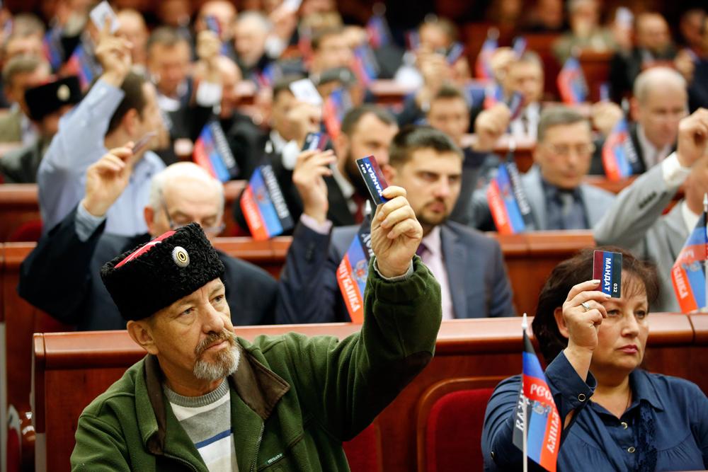 Nel parlamento di donetsk internazionale for Nuovo parlamento italiano