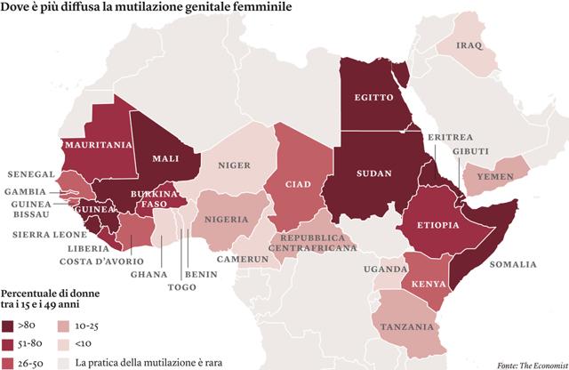 Sono 125 milioni le donne che subiscono mutilazioni genitali