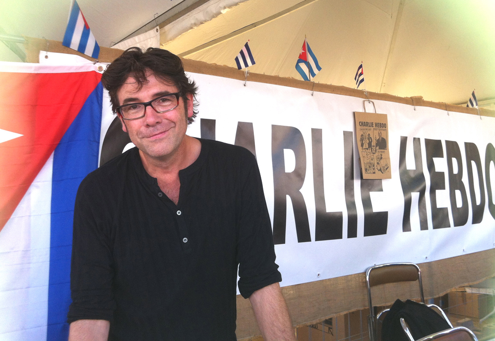 Tignous alla festa del quotidiano francese L'Humanité, 2012. - Blog-Picard