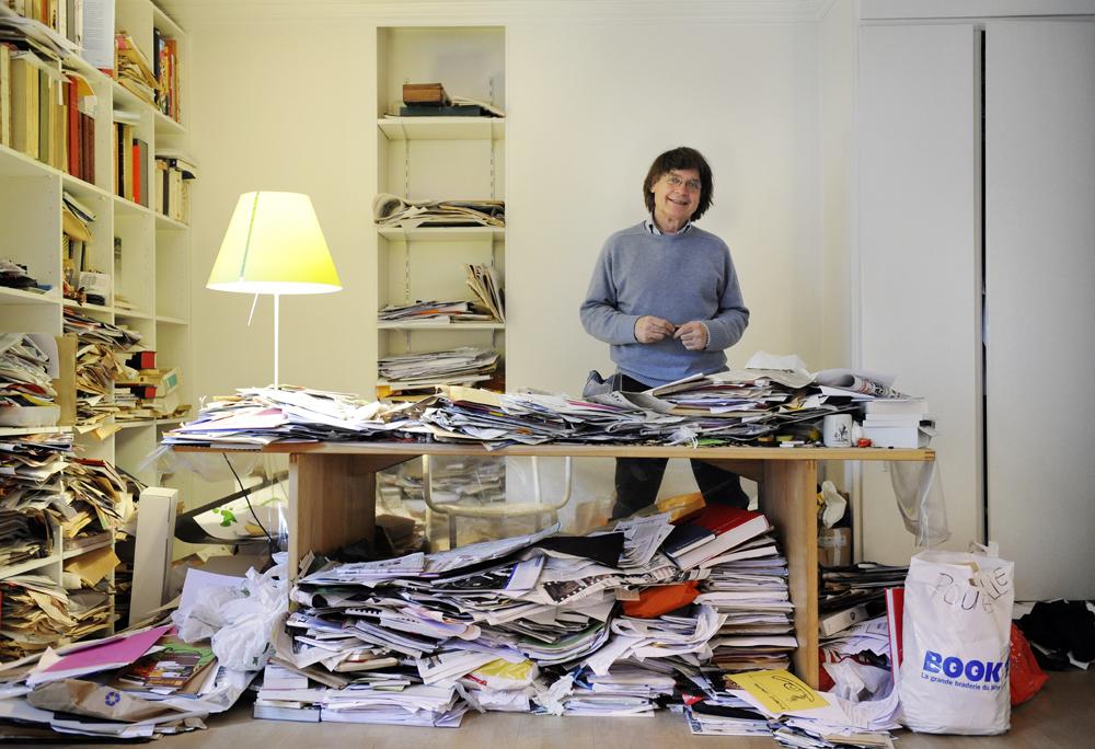 Cabu nella sua casa di Parigi, 2008. - Stephane De Sakutin, Afp