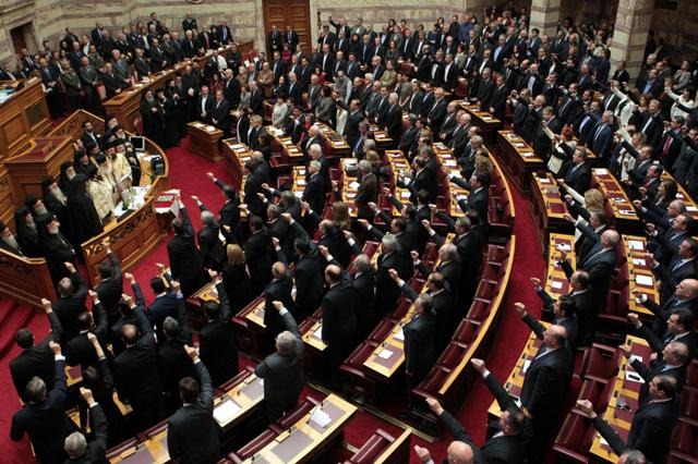 Il giuramento del nuovo parlamento greco internazionale for Nuovo parlamento italiano