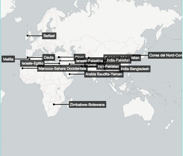 Cartina Degli Stati Del Mondo.Tutti I Muri Del Mondo Internazionale