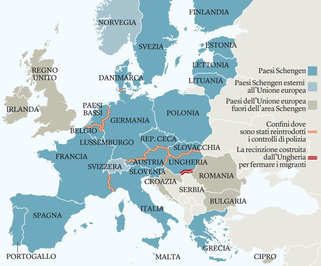 Che cos'è il trattato di Schengen