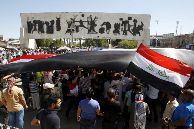 c0e35a866f Un sit in dei sostenitori dell'imam sciita Moqtada al Sadr a Baghdad, il