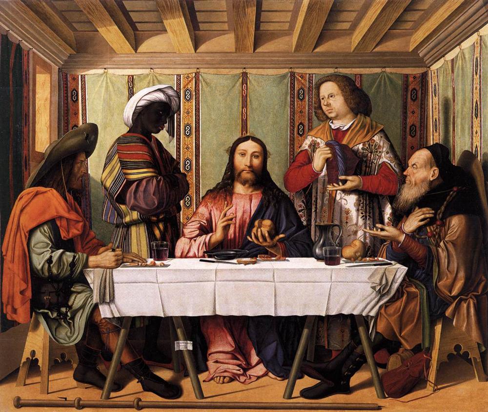 La cena di Emmaus di Marco Marziale.  -