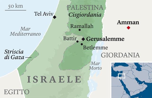 Cartina Israele Giordania.In Cammino Tra Israele E Palestina Dove Il Muro Sparisce Francesco Migliaccio Internazionale