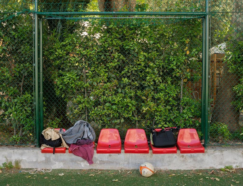Il cortile del liceo scientifico statale John Fitzgerald Kennedy, Roma, maggio 2017.  - Lorenzo Maccotta per Internazionale, Contrasto
