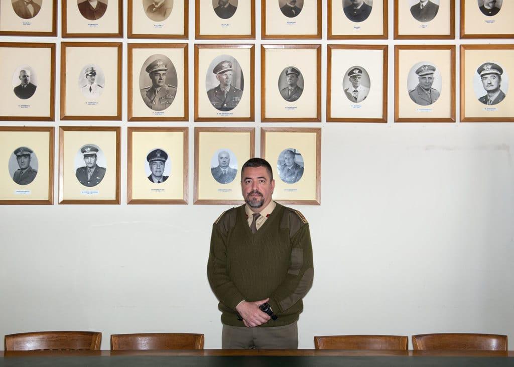 Il colonnello Antonio Medica, direttore dello stabilimento militare di Firenze, maggio 2017. - Edoardo Delille per Internazionale