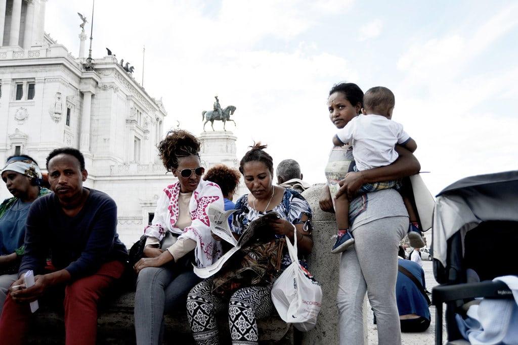Migranti, nuovo sgombero dai Fori