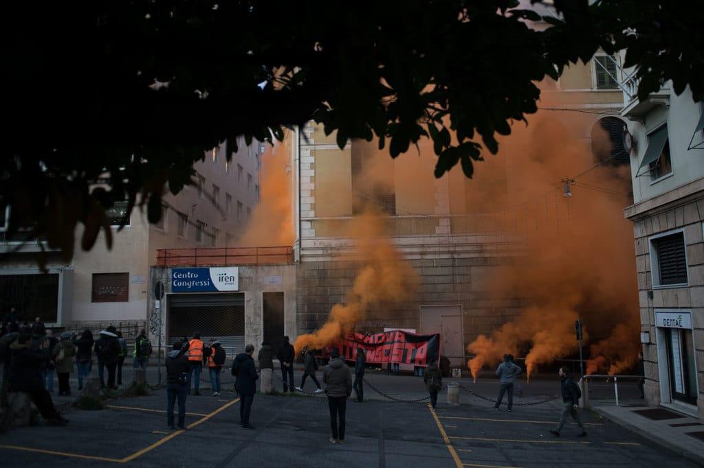 Manifestazione antifascista a Genova, 3 febbraio 2018.   - Piero Cruciatti, Lapresse