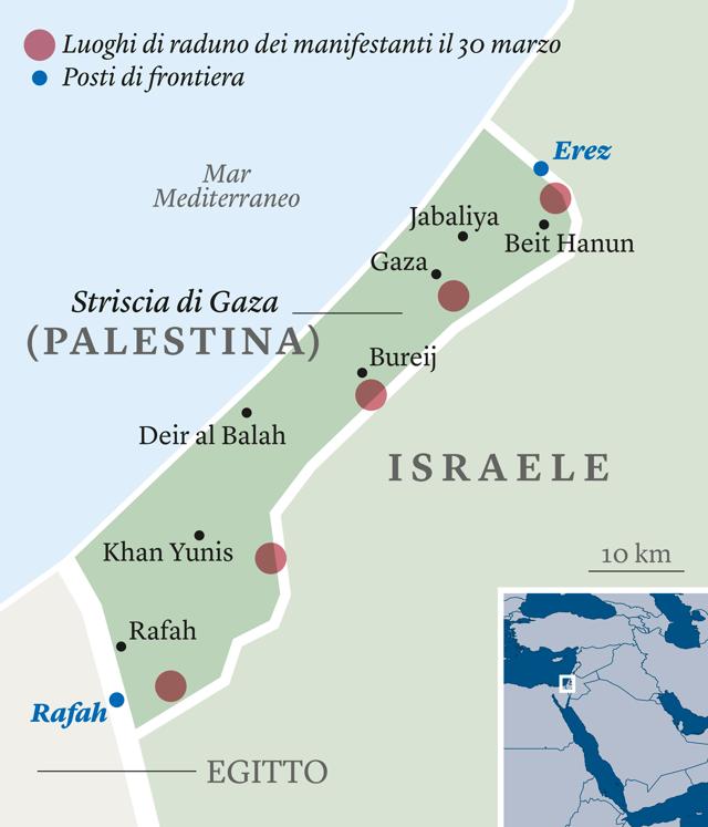 Cartina Fisica Palestina.La Marcia Palestinese Non Finisce Con La Strage Amira Hass Internazionale