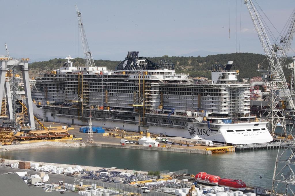 I cantieri navali della Fincantieri a Monfalcone, 23 agosto 2017. - Katia Bonaventura, Ansa