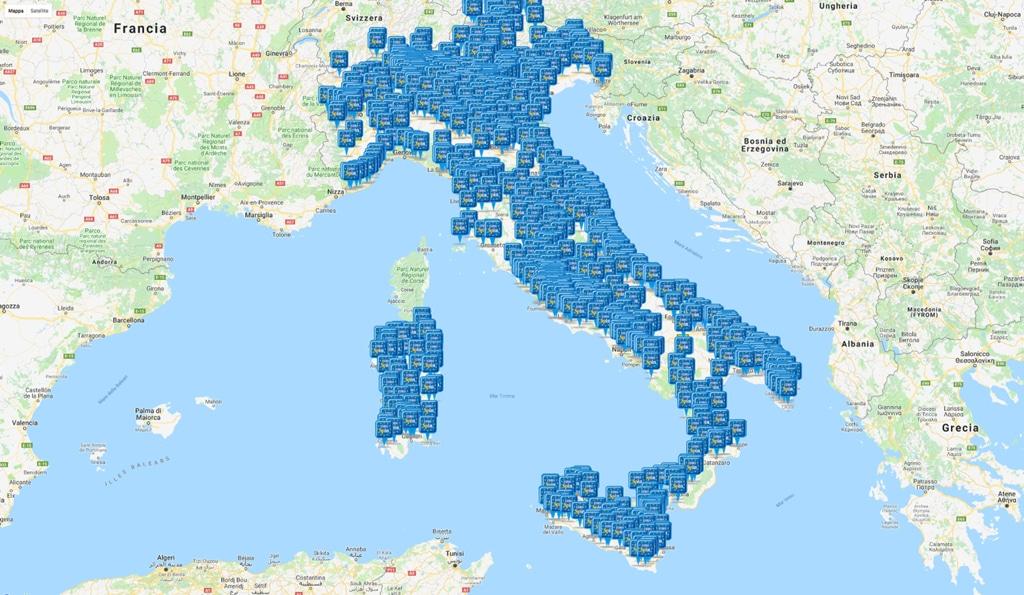 La diffusione dei supermercati Eurospin in Italia. -