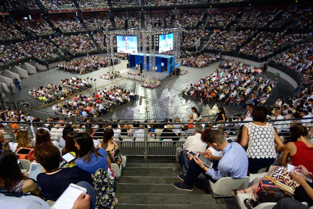 Il congresso dei testimoni di Geova al PalaLottomatica di Roma, luglio 2017.  - Simona Granati, Corbis via Getty Images