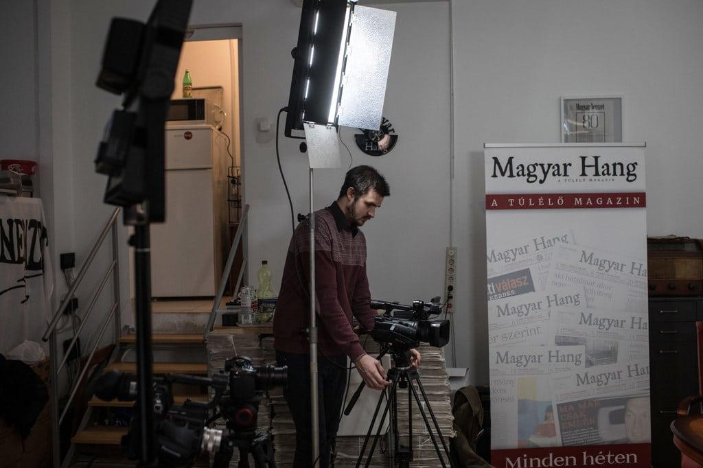 Prima di un'intervista nella redazione del giornale indipendente Magyar Hang a Budapest, il 16 gennaio 2019. - Chris McGrath, Getty Images