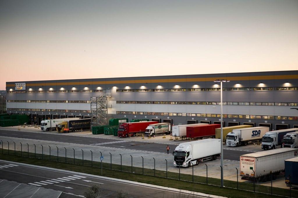 La sede di Amazon a Passo Corese, il 12 marzo 2019. - Francesco Alesi per Internazionale