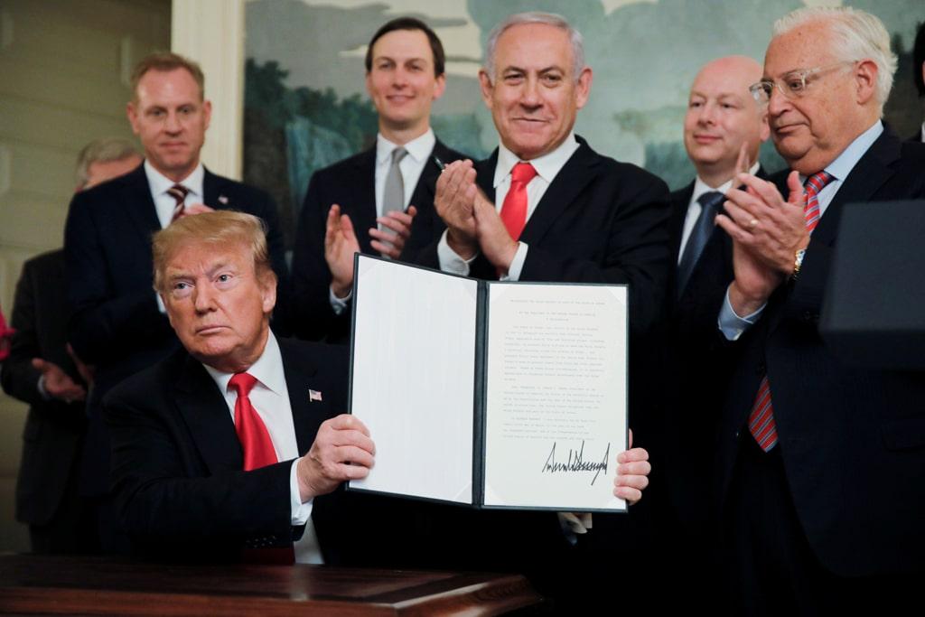 Trump riconosce la sovranità di Israele sulle Alture del Golan