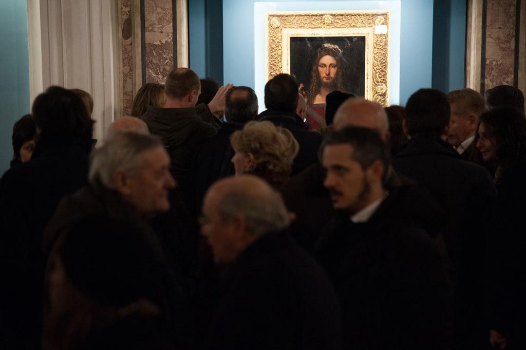 Il Salvator mundi esposto al museo diocesano di Napoli, gennaio 2017. - Ivan Romano, Getty Images