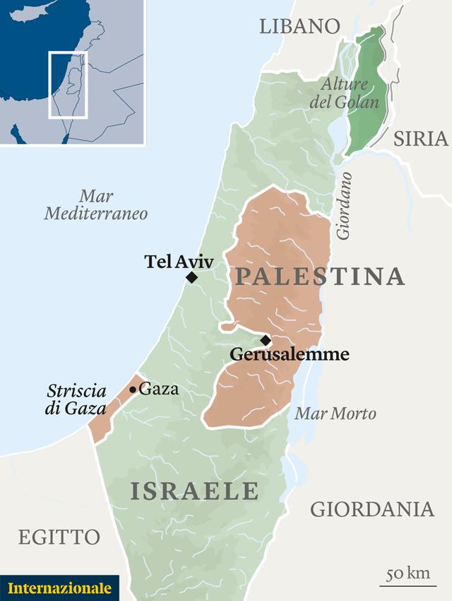 Israele E Palestina Cartina.La Crisi Tra Gaza E Israele E Politica Non Militare Pierre Haski Internazionale