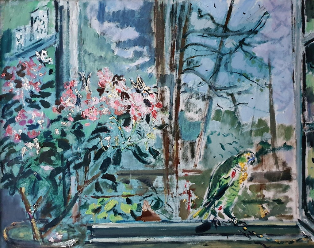 Natura morta con pappagallo, 1942. - Filippo de Pisis, Collezione Marino P. De Biagi, Repubblica di San Marino