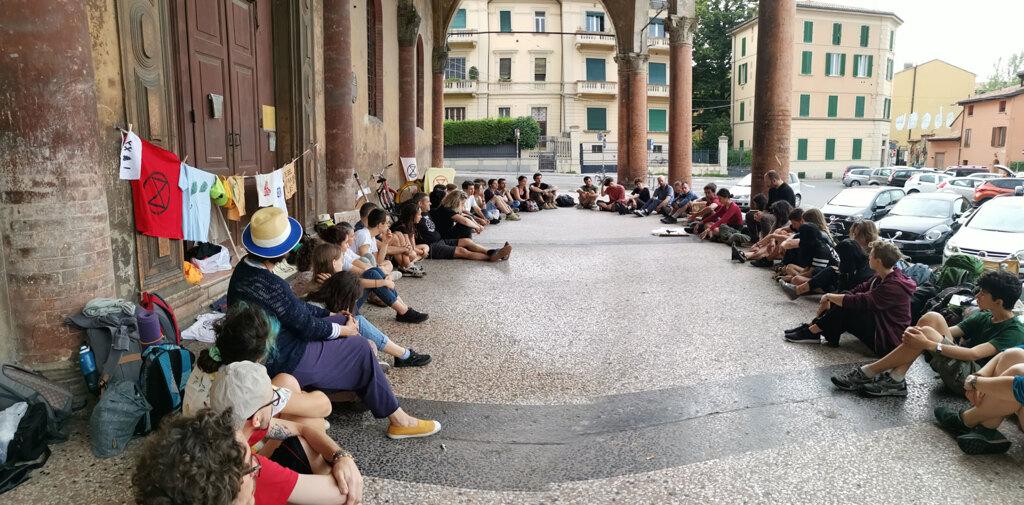 Attivisti di Xr a Bologna, 2019. - Per gentile concessione di Xr Bologna