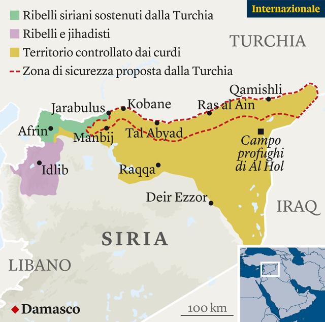 Cartina Mondo Siria.Putin E Il Grande Vincitore Dell Intervento Turco In Siria Pierre Haski Internazionale
