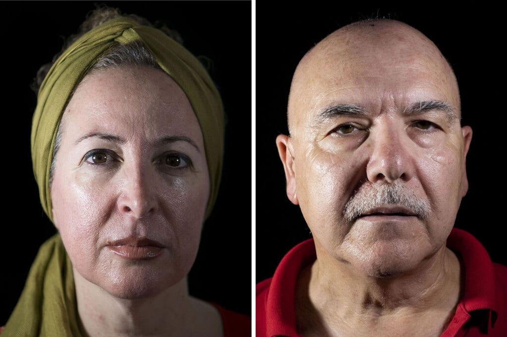 A sinistra: Angelica Romano, Casalnuovo, Napoli. Romano ha 47 anni, è malata di leucemia mieloide acuta. A destra: Enzo Tosti, 61 anni, Orta di Atella, in provincia di Caserta. - Mauro Pagnano