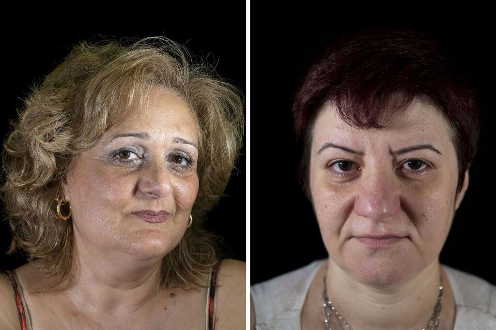 A sinistra: Paola Cipolletta, 55 anni, Mugnano di Napoli. Ha un tumore al colon e poi ha sviluppato altre patologie tumorali. A destra: Paola Barone, Orta di Atella, provincia di Caserta, ha il linfoma Hodgkin stadio III A.  - Mauro Pagnano