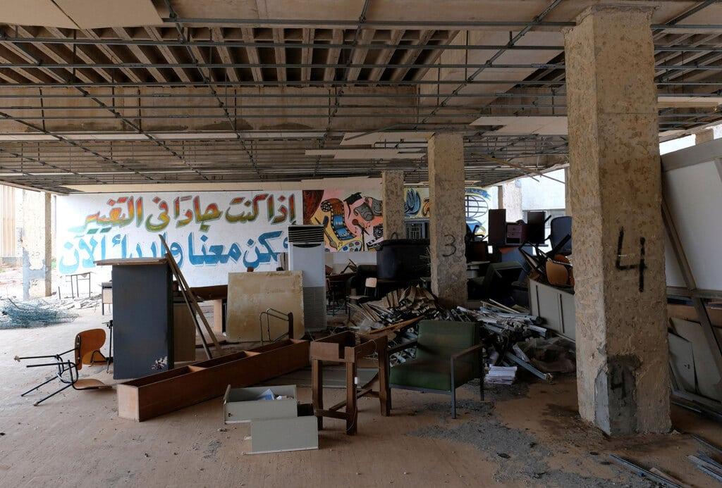 Un'aula dell'università di Bengasi, febbraio 2019. - Esam Omran Al-Fetori, Reuters/Contrasto