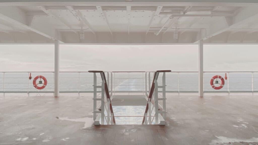 La poppa della nave, novembre 2019. - Alessandro Calvi