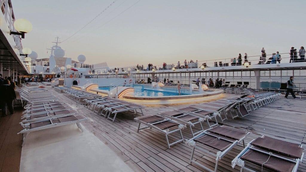 Una delle piscine del ponte superiore, novembre 2019. - Alessandro Calvi