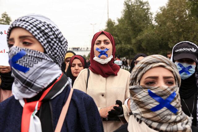 Le donne irachene sfidano il potere