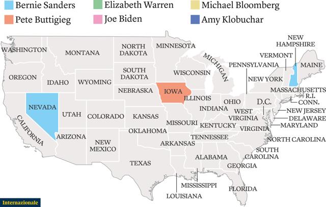 Le primarie del Partito democratico dopo il voto in Nevada