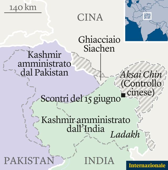 Cartina Climatica Cina.S Inasprisce La Tensione Tra Cina E India Sull Himalaya Pierre Haski Internazionale