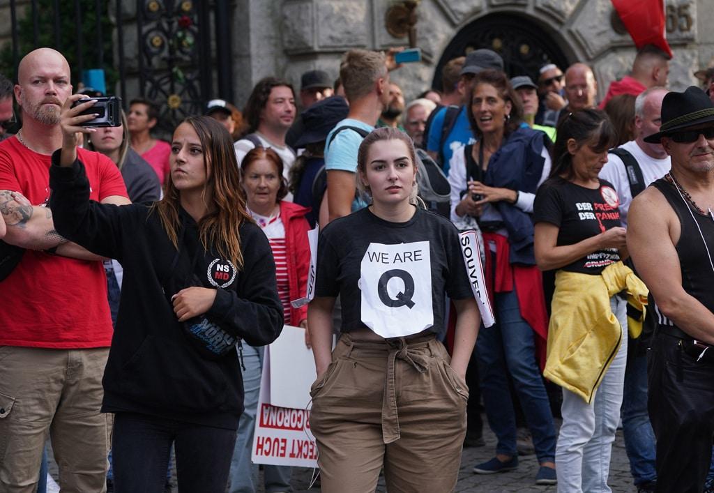 Una manifestazione contro le misure imposte per contenere il covid. Berlino, Germania, 29 agosto 2020. - Sean Gallup, Getty Images