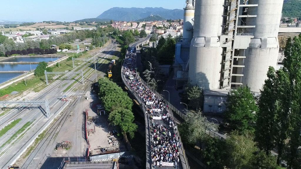 Una manifestazione contro la riapertura degli inceneritori, Colleferro, 8 luglio 2017. - Scaffale ambientalista