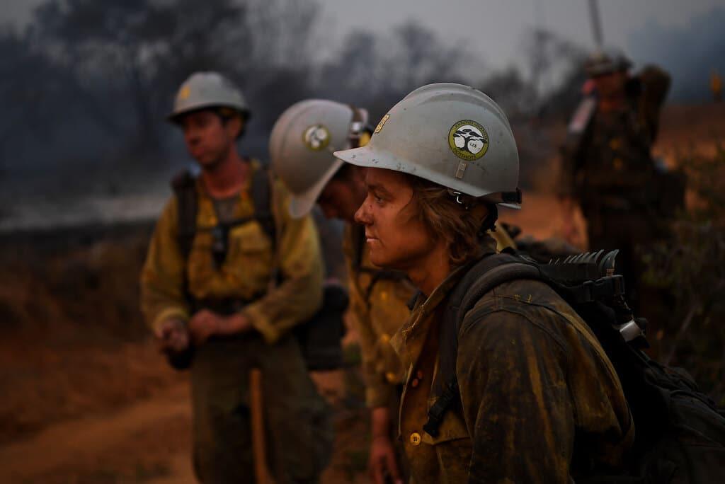 Vigili del fuoco a Yucaipa, in California, 7 settembre 2020. - Wally Skalij, Los Angeles Times via Getty Images