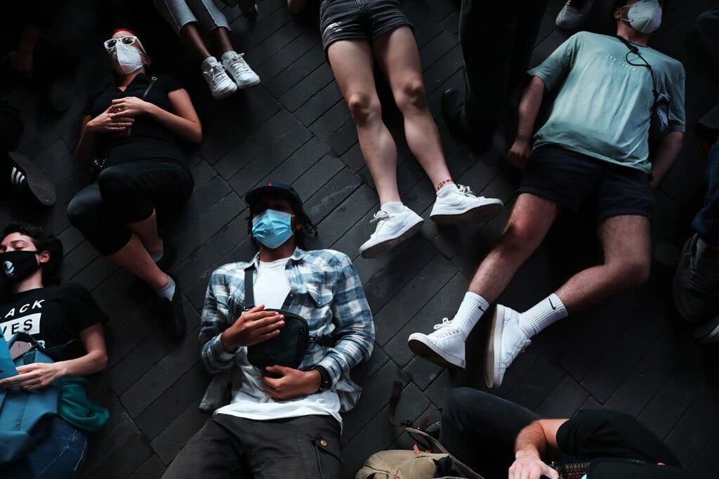 Una manifestazione organizzata da Black lives matter per l'omicidio di Breonna Taylor a New York, 23 settembre 2020. - Spencer Platt, Getty Images